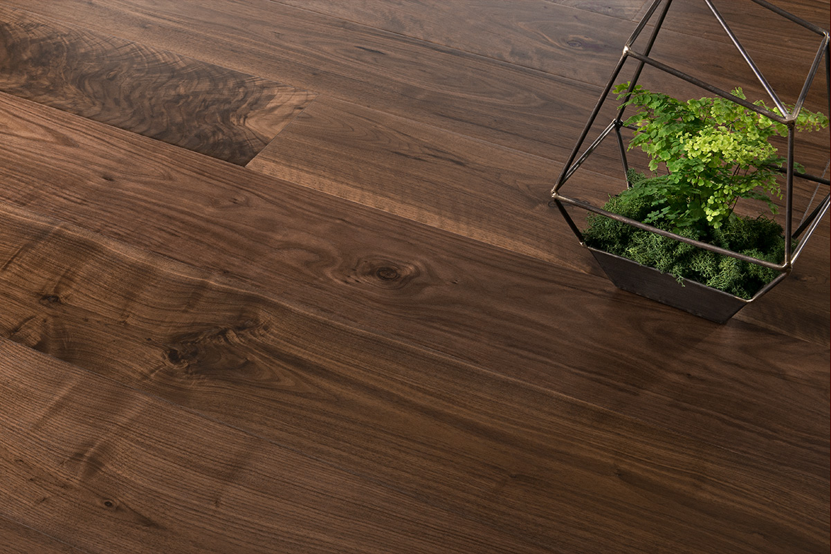 wide plank walnut flooring