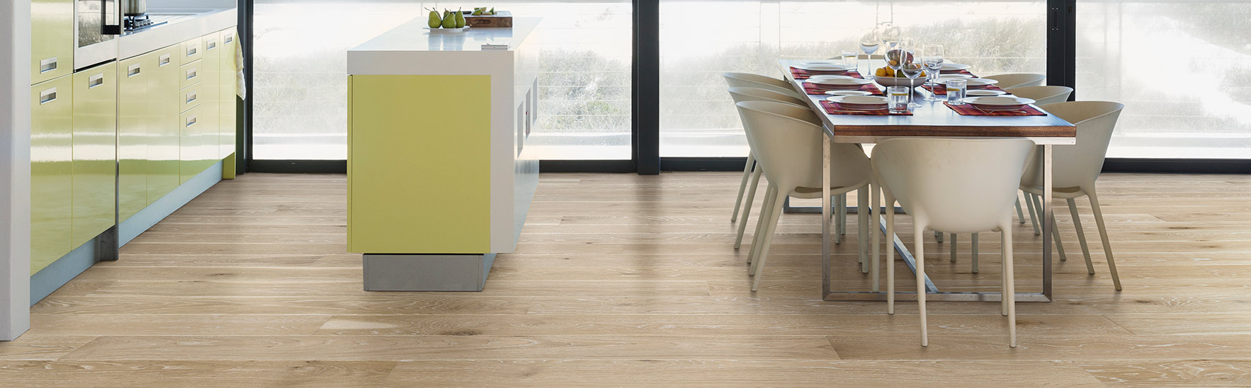 wide plank white oak flooring